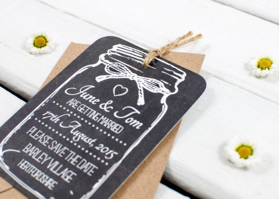 Wedding - chalkboard save-the-date-magnet