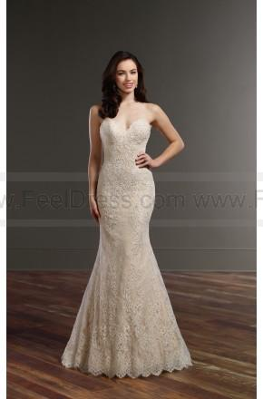 Wedding - Martina Liana Lace Column Wedding Dress Style 857