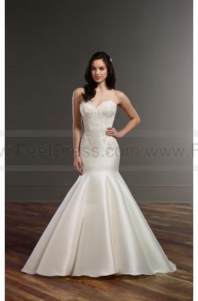 Boda - Martina Liana Structured Trumpet Wedding Dress Style 853