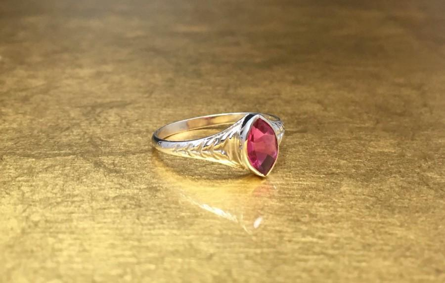 Wedding - Pink Art Deco Ring