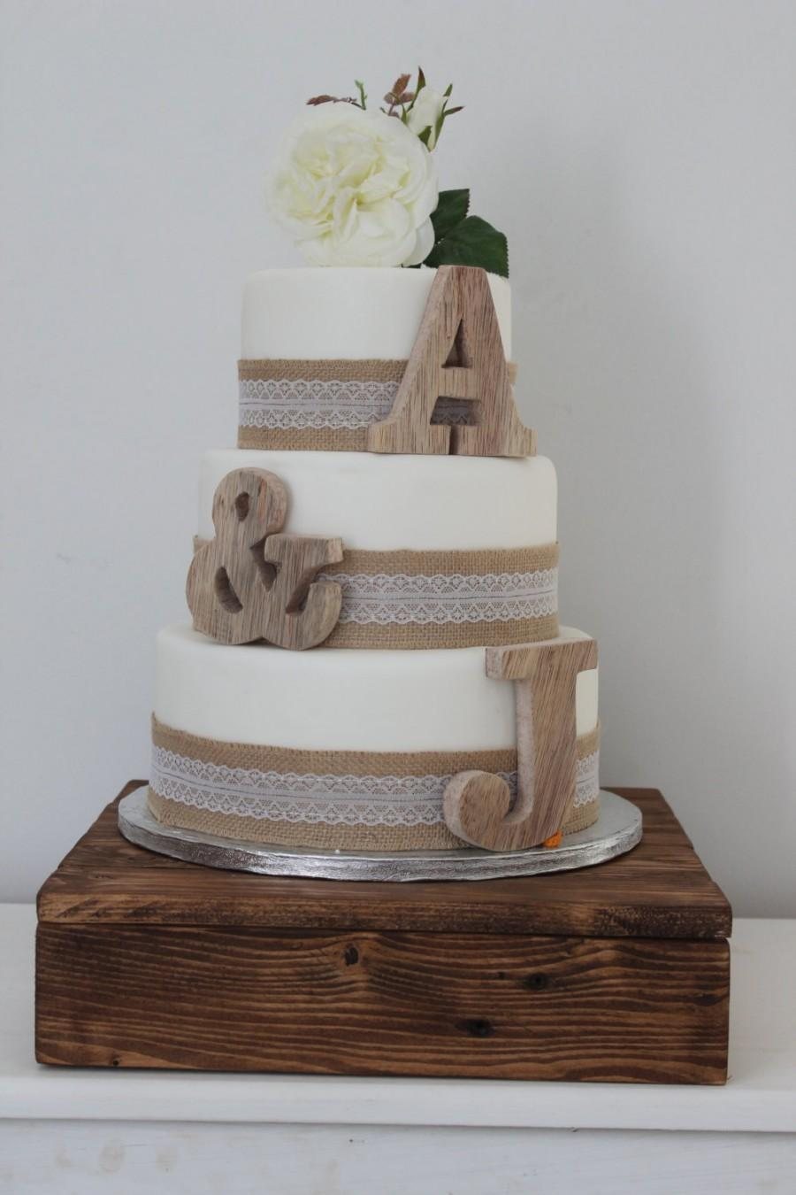 Rustic Wedding Cake Toppers Personalised Cake Toppers Small Wooden