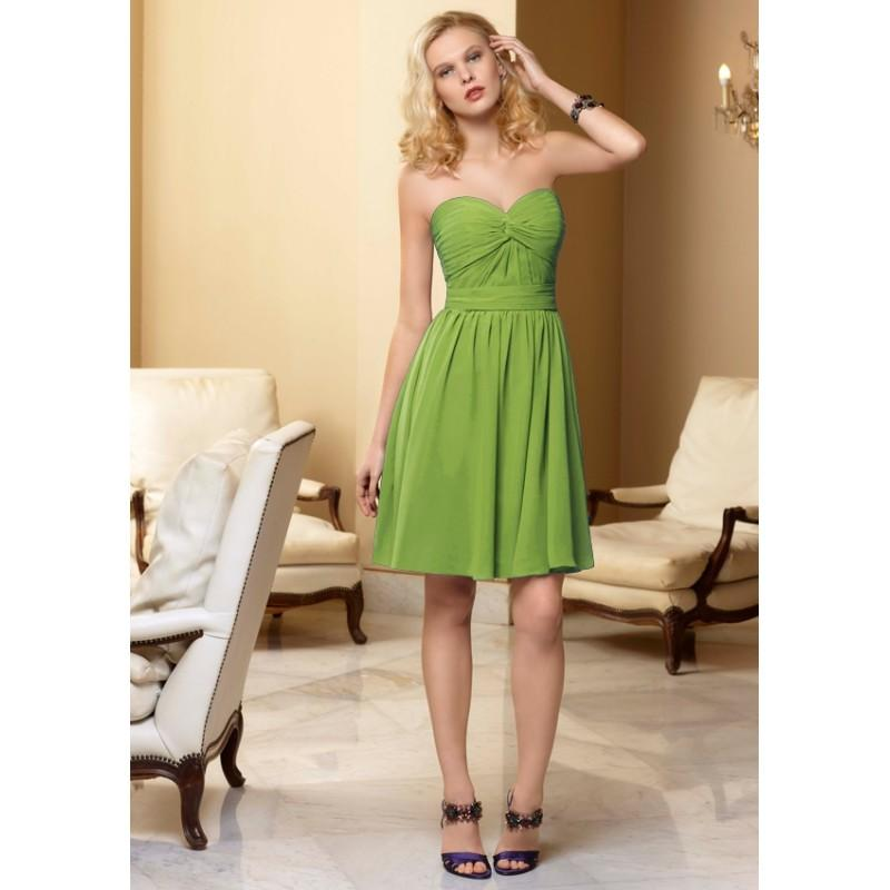 Wedding - Nectarean A-line Sweetheart Ruching above Knee Length Chiffon Bridesmaid Dresses - Dressesular.com