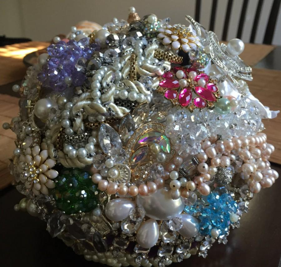 Wedding - Broach and Beaded Wedding Bouquets