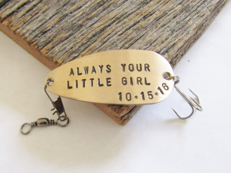 Wedding - Father of the Bride Gift for Dad Always Your Little Girl Personalised Fishing Lure Mother of the Bride Gift for Mom Fathers Day Wedding Day