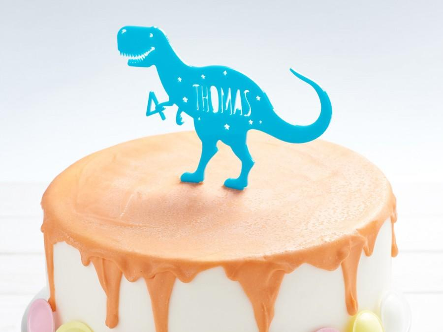 Wedding - Personalised T Rex Dinosaur Cake Topper