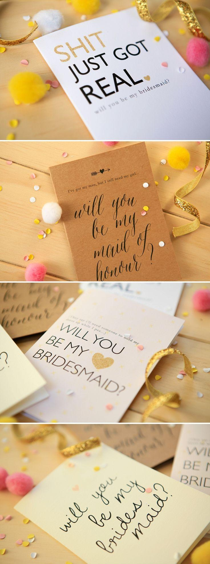 Wedding - FREE Will You Be My Bridesmaid Printables Exclusive To P&L!