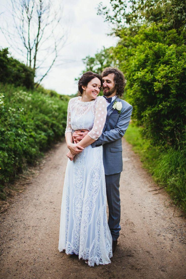 Wedding - A Pale Blue Wedding Dress For A Spring Time Rural Wedding