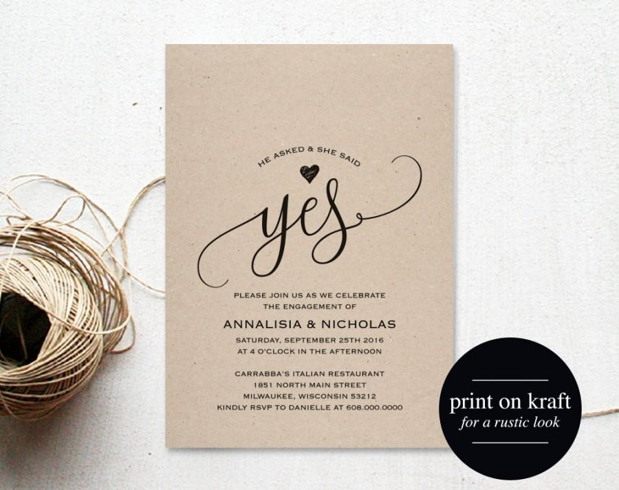 Engagement Party Invitation, Engagement Invite, Engaged Announcement ...