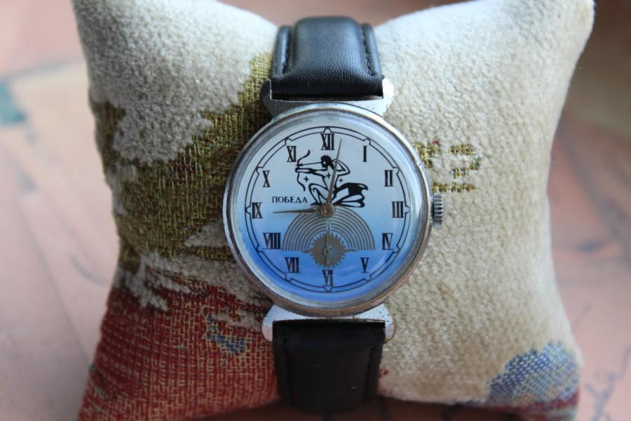 "Wedding - Mens Watch Vintage Watch Pobeda watch, Russian watch, Soviet Vintage  watch , WatchVintage Mens watch boyfriends watch ""Victory"", gift watch"
