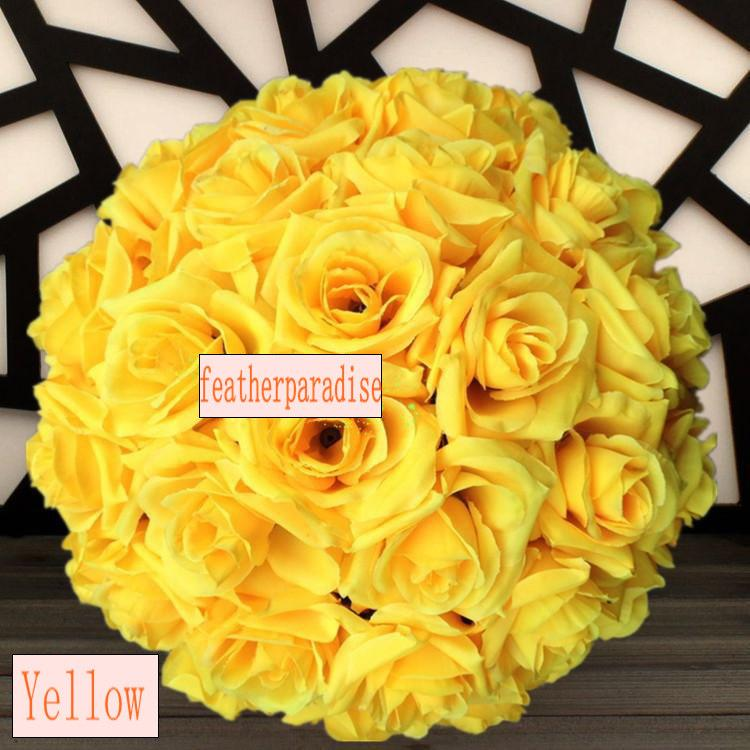 Mariage - Rose Flower Ball  Wedding decoratin Ball Silk Kissing Ball Flowers Pomander Rose  Balls Muti-colors Multi-sizes (GA, USA)