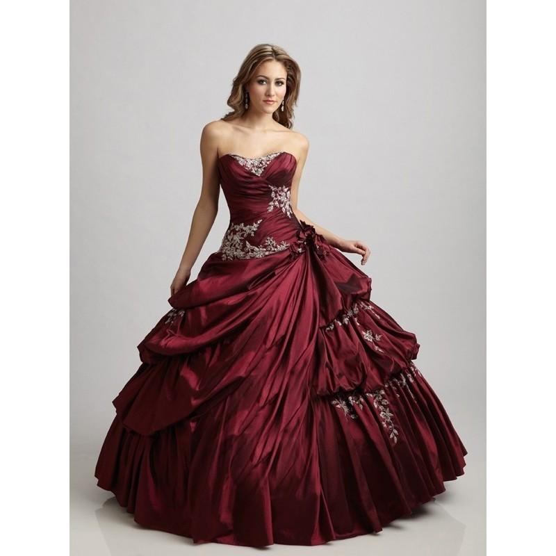 Wedding - Sexy Ball-Gown Sweetheart Applique Sleeveless Floor-length Taffeta Prom Dresses In Canada Prom Dress Prices - dressosity.com