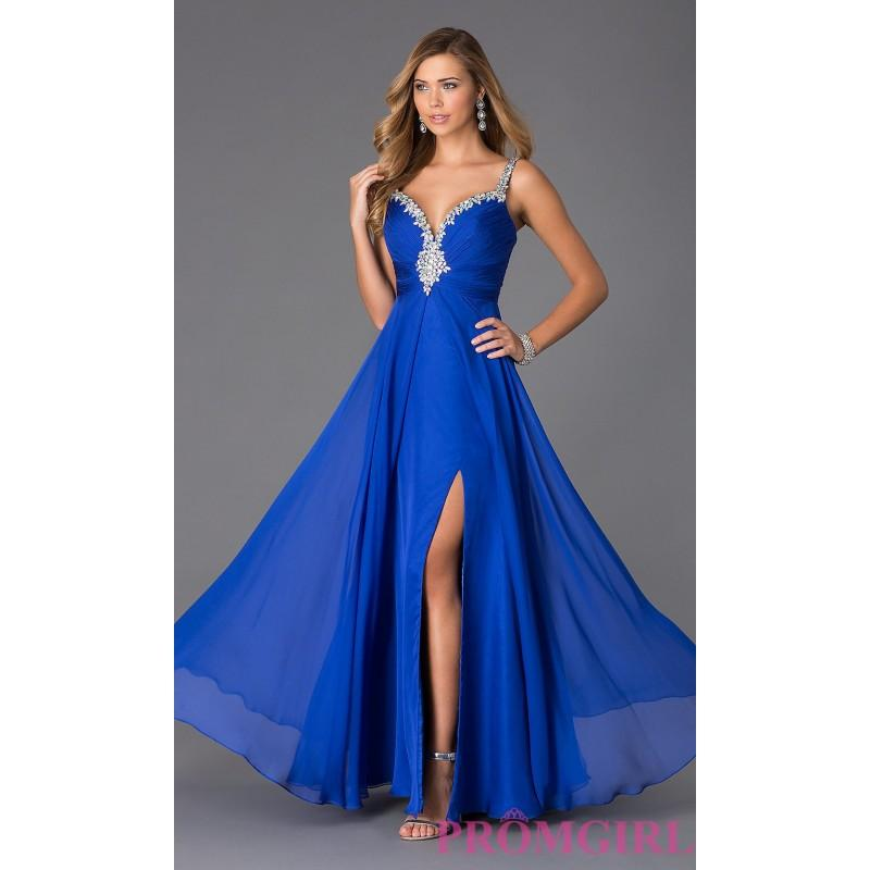 Wedding - Long Chiffon Formal Dress by Alyce - Brand Prom Dresses