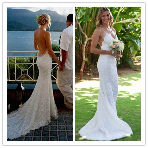 Boda - Spaghetti Straps Sexy Backless BeachBackless