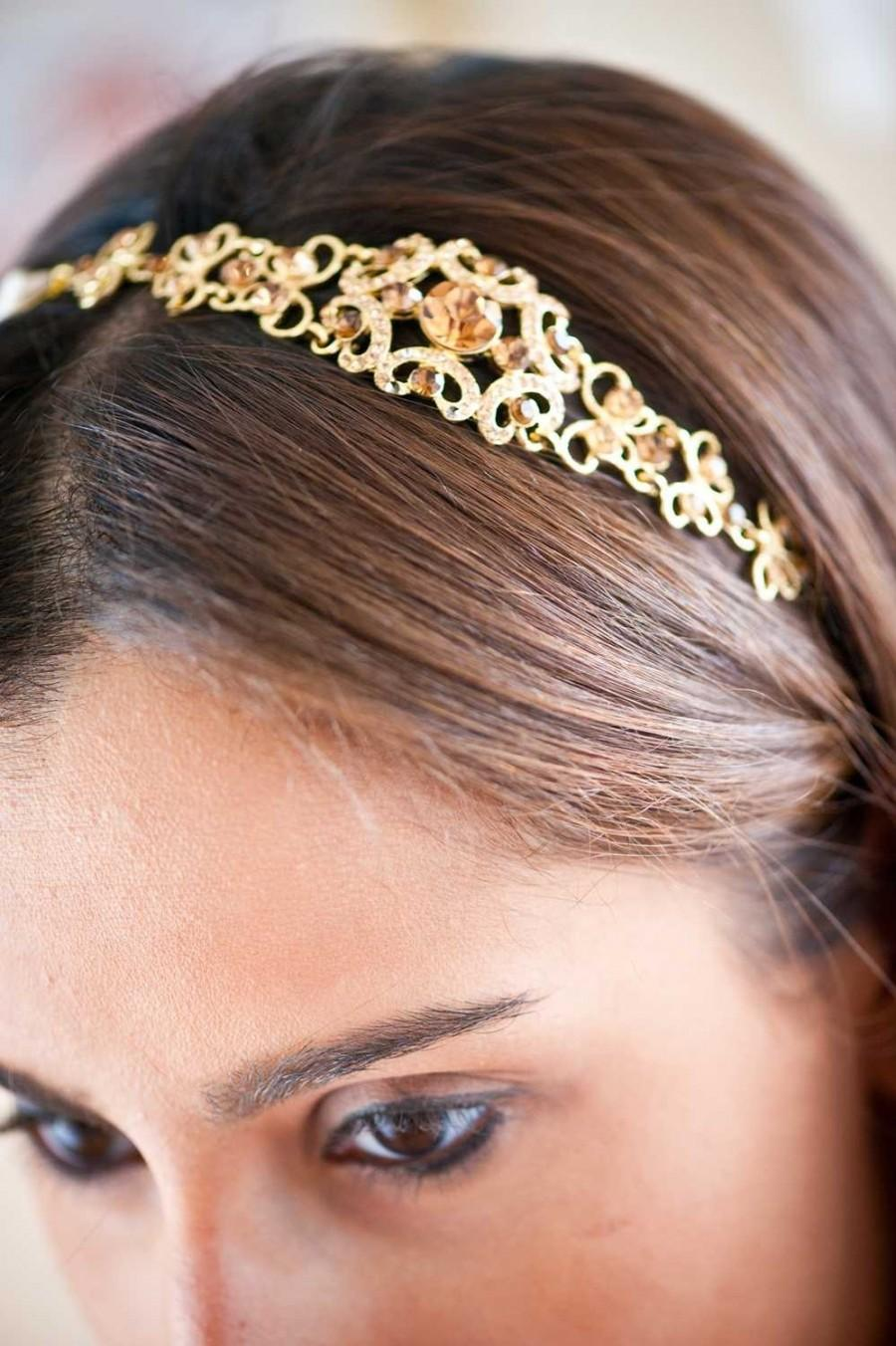 Wedding - Bridal Headband - Bridal Headpiece - Crystal Headband - Crystal Headpiece - Wedding Headband - Wedding Headpiece - Prom Headband - SOPHIA
