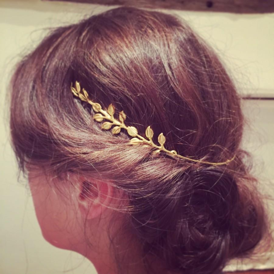 Wedding - Bridal head band, Bridal tiara,  Gold headband, Hair jewellery, Wedding hair, Inspired by nature, Gold tiara, Bridesmaid hair accessory.