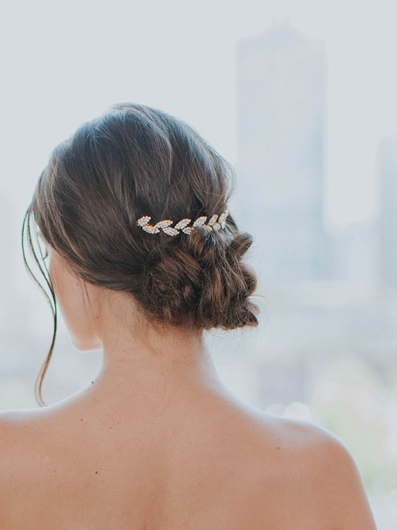 Wedding - Gold Leaf Headpiece