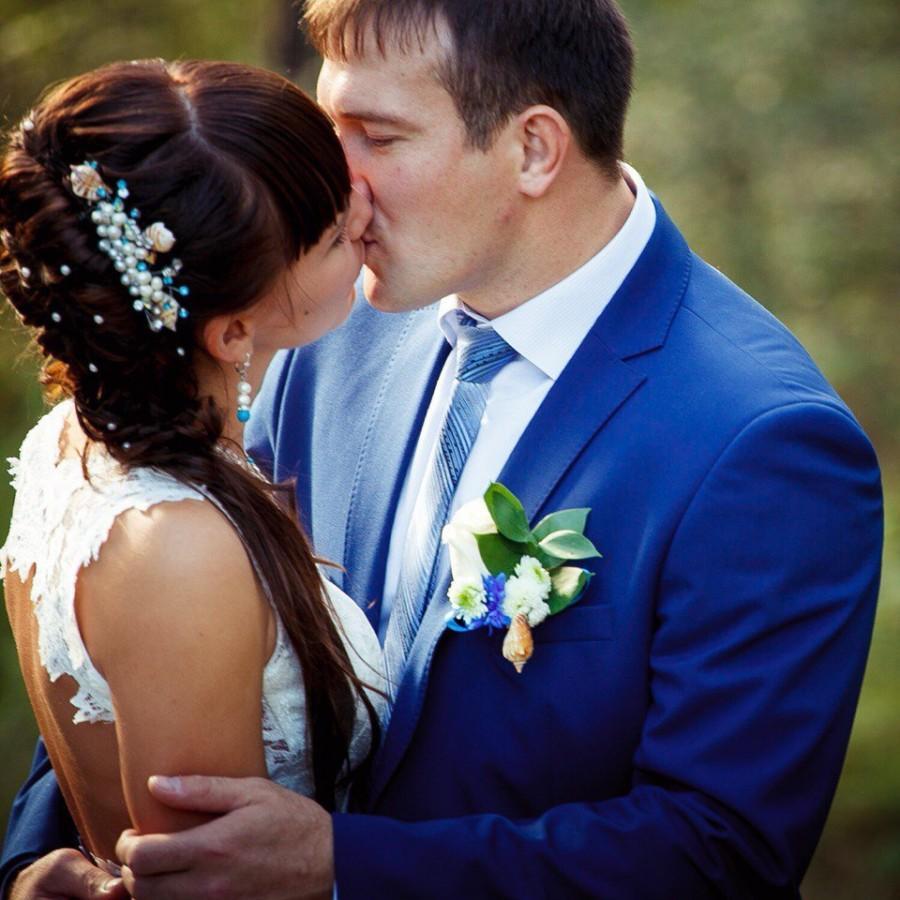 Wedding - Wedding Hair Comb Shell, Seashel Bridal Hair Comb, Bridal Haircomb, Wedding Haircomb, Bridal Hair Piece, Bridal Headpiece.
