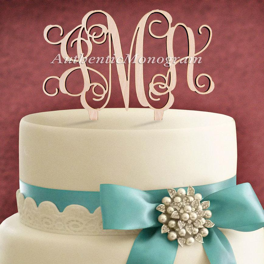 Свадьба - Custom  CAKE TOPPER Monogram  Wooden, Unpainted, Wedding Initial Monogram, Birthday, Celebration, Anniversary, Special Occasion 4101
