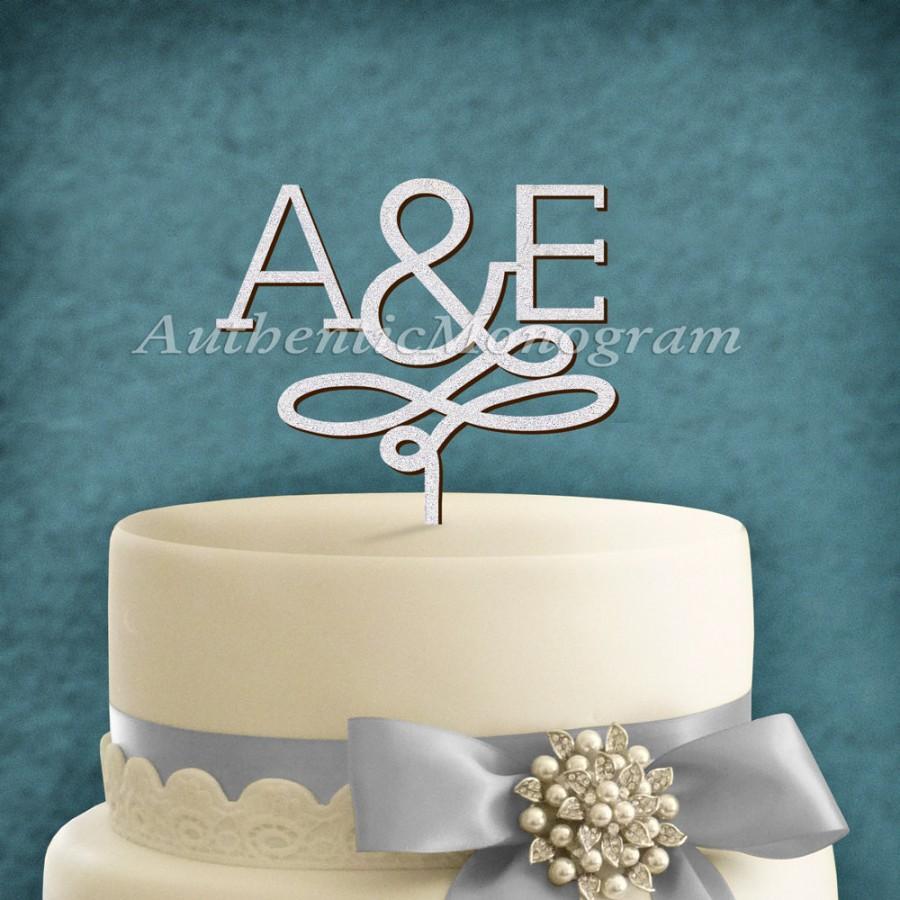 Свадьба - Wooden Unpainted INITIALS MONOGRAM decorated Cake Topper, Anniversary, Wedding Decor Celebration, Engagement, Special Occasion 42083*