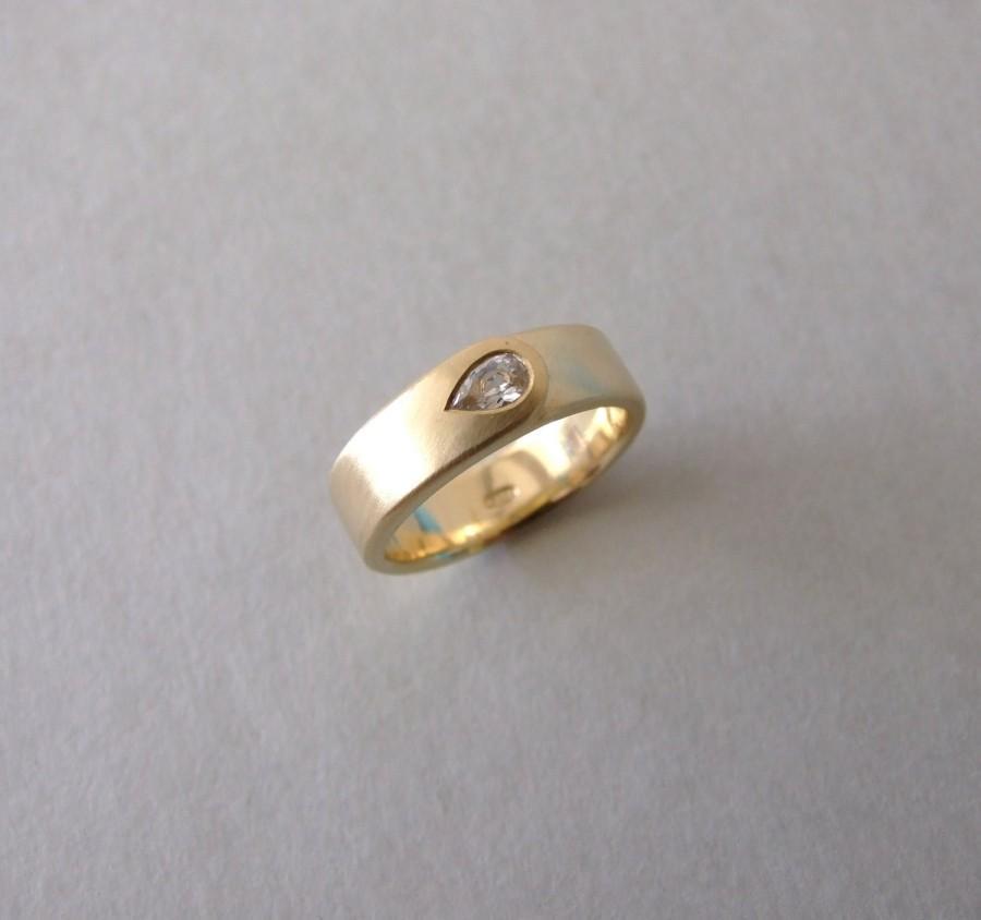 Gold Flame Engagement Ring Alternative Engagement Ring Wedding