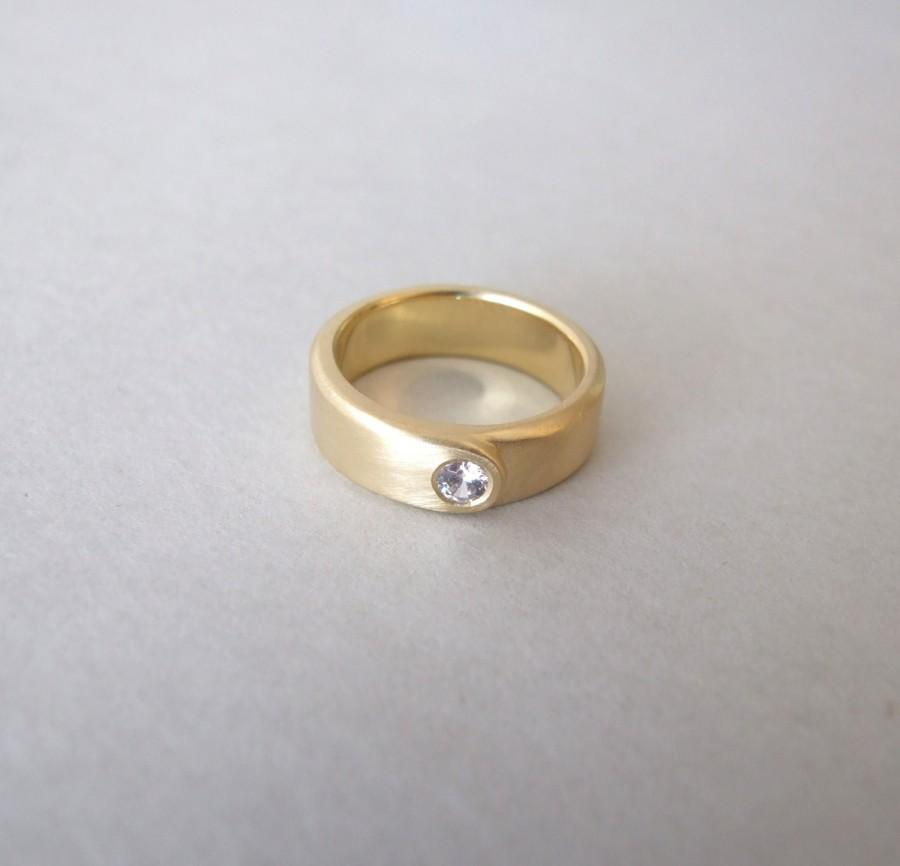 Wedding - Solid Gold Ring - alternative engagement ring , wedding ring , gold wedding band , minimalist ring , gemstone ring , fine jewelry