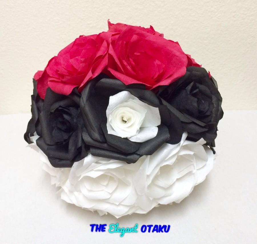 Свадьба - Pokemon, wedding bouquet, wedding flowers, paper flowers, geek wedding, bridal bouquet, pokeball, Pokemon wedding, anime wedding