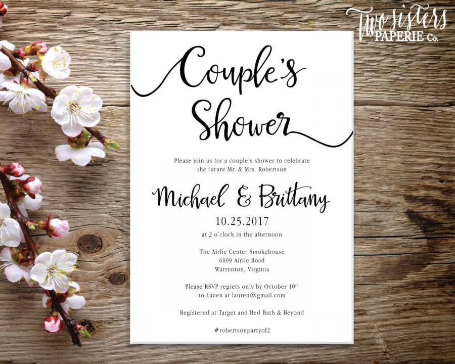 Wedding - Couple's Shower Invitation