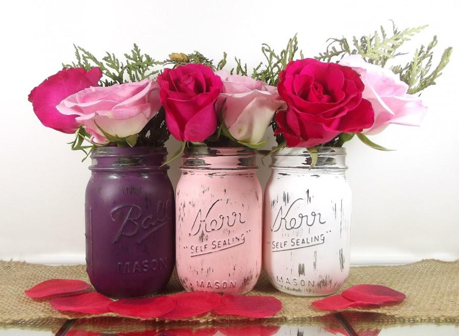 Bridal Shower Decor // Rustic Wedding Decor Mason Jars // Bridal ...