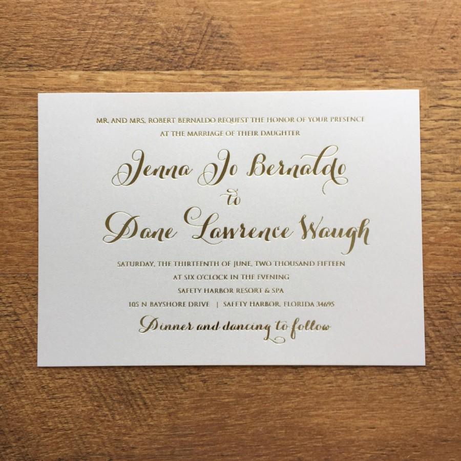 Gold Foil Wedding Invitation Bgf01 Jb0613 2644760 Weddbook