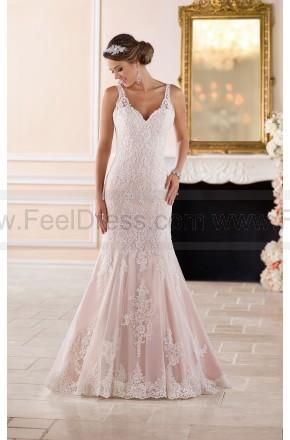Hochzeit - Stella York Scalloped Lace Keyhole Back Wedding Dress Style 6343