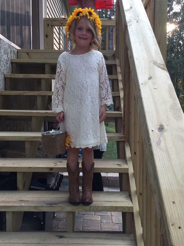Свадьба - The Simply Grace White Lace Flower Girl Dress