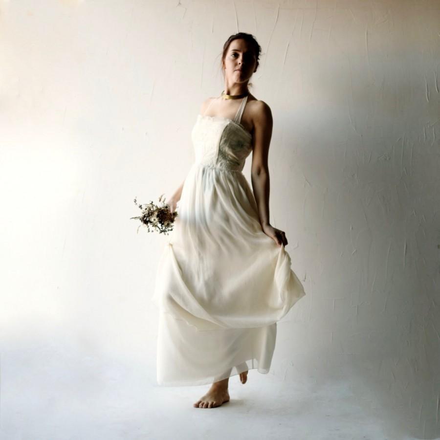 Boda - Wedding dress, Boho wedding gown, Beach wedding dress, Long wedding dress, Hippie wedding, Corset dress, Alternative wedding, AMARYLLIS
