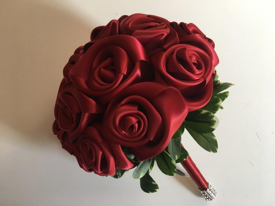 Red rose bridesmaid bouquet