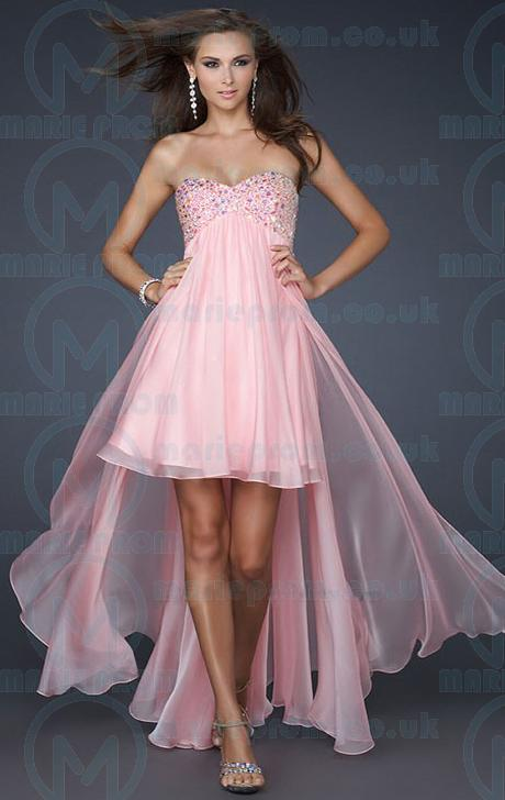 Свадьба - CHEAP HIGH LOW PEARL PINK TAILOR MADE EVENING PROM DRESS (LFNAF0064)