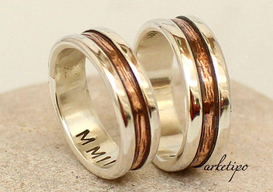 Wedding Ring Set Personalized Promise Rings Made Of Sterling Silver