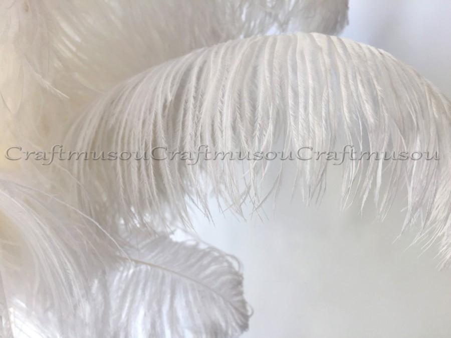 Свадьба - Natural Ostrich feathers 20 Piece 10-24 inches White ostrich feather for Wedding Centerpiece decoration