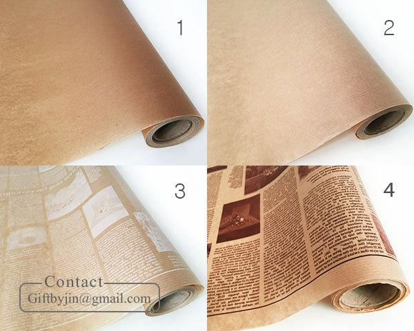 Mariage - 19.6Y(18m/59ft)_Kraft Brown Waxed paper roll_Coated paper for food wrapping_baking, sandwich, deli, florist, soap_Food Safe paper