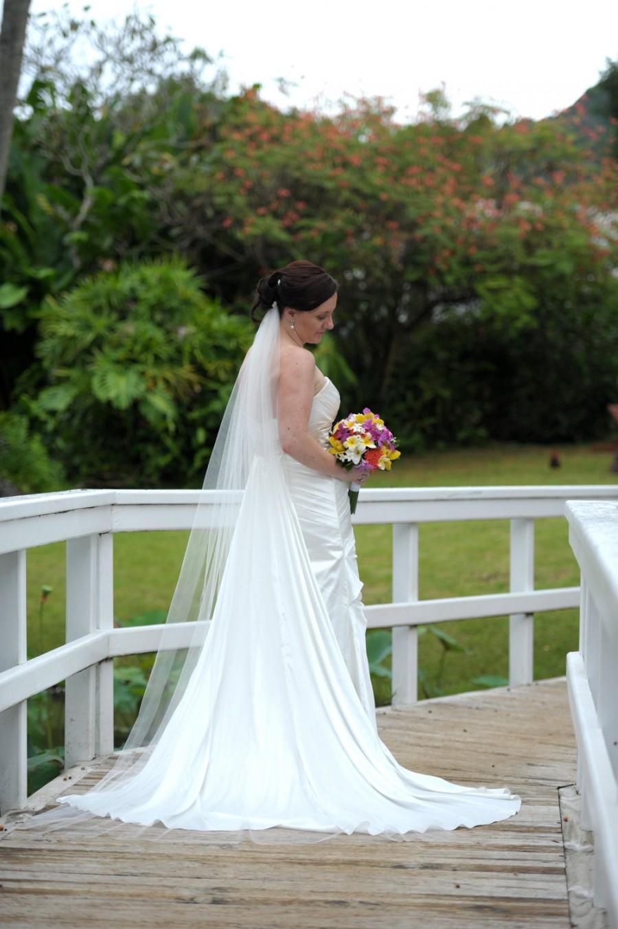 Свадьба - Bridal veil - Elegant Chapel Length