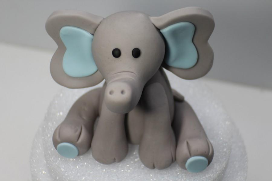 "Hochzeit - Elephant Fondant Cake Topper. READY To SHIP TODAY (Business days). ""We do custom orders"""