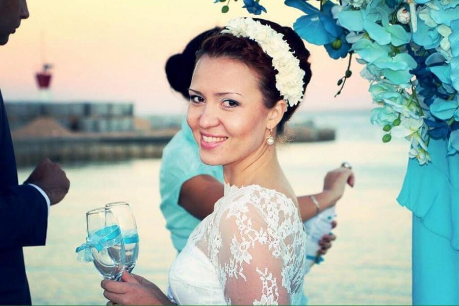 Свадьба - White Wedding Crown Wedding Floral Crown Bridal Crown Delicate handmade Flower crown with white hydrangea flower Hydrangea Flower For bride
