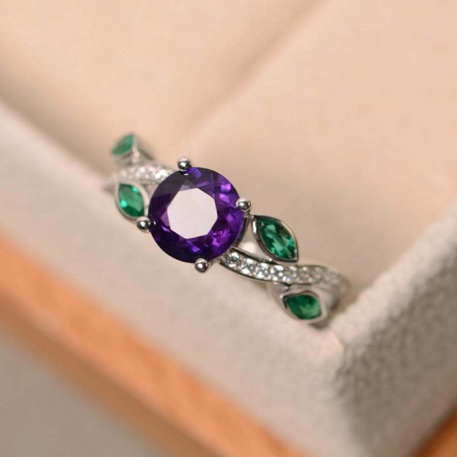 Wedding - Amethyst ring, engagement ring