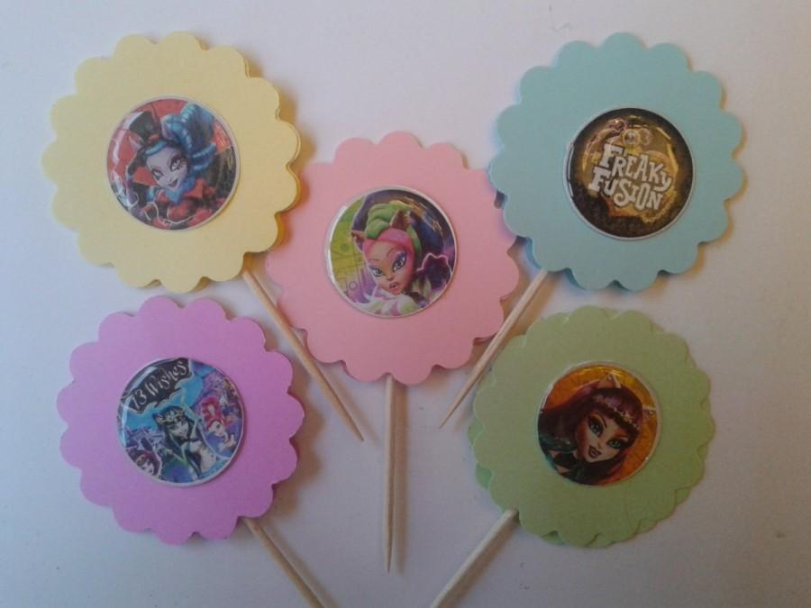 Mariage - Cupcake Toppers/Party Favors/Cake Toppers/ Theme Party Favor