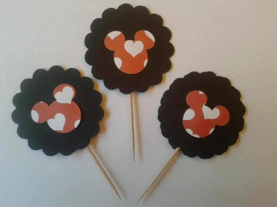 Hochzeit - Cupcake Toppers/Party Favors/Cake Toppers/ Theme Party Favor