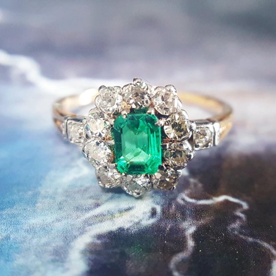 زفاف - Emerald Engagement Ring