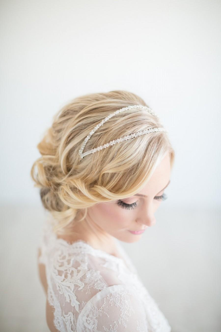 Bridal Headband Crystal Double Wedding Tiara