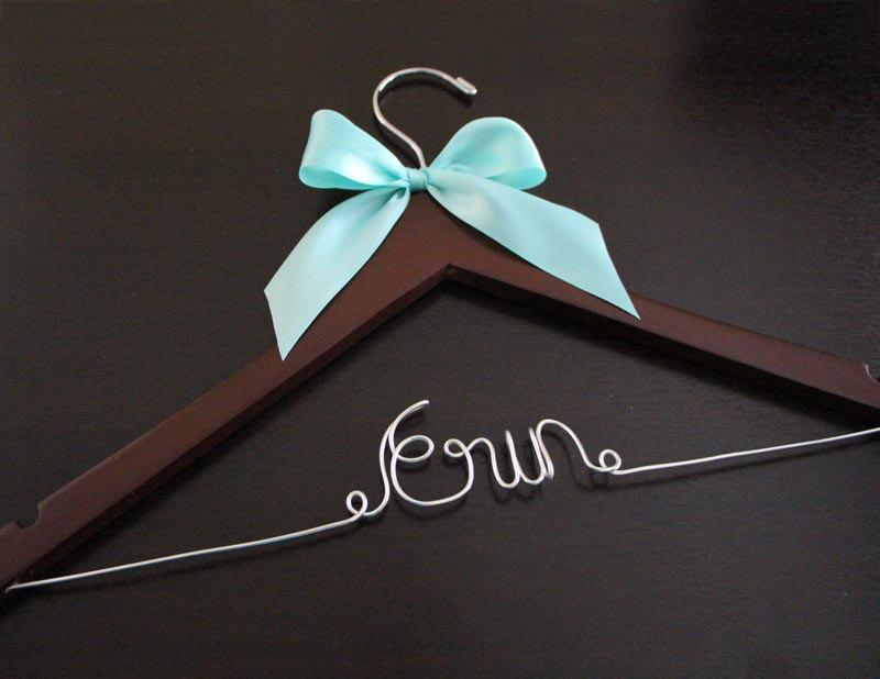 Свадьба - Sale Today Only!! Bridal Hanger with Ribbon / Wedding Hangers BLOW-OUT / Custom Bridal Hangers / Personalized Wedding Hangers