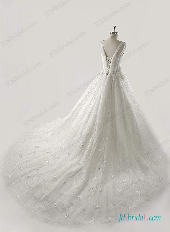 Mariage - Sprakly sequins tulle princess ball gown wedding dress