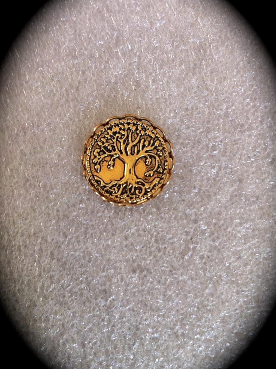 Hochzeit - Tree of Life Lapel Pin, Mens Gold Tie Tack, Celtic Jewelry Unisex Accessory Irish Jewelry Groomsmen Gift