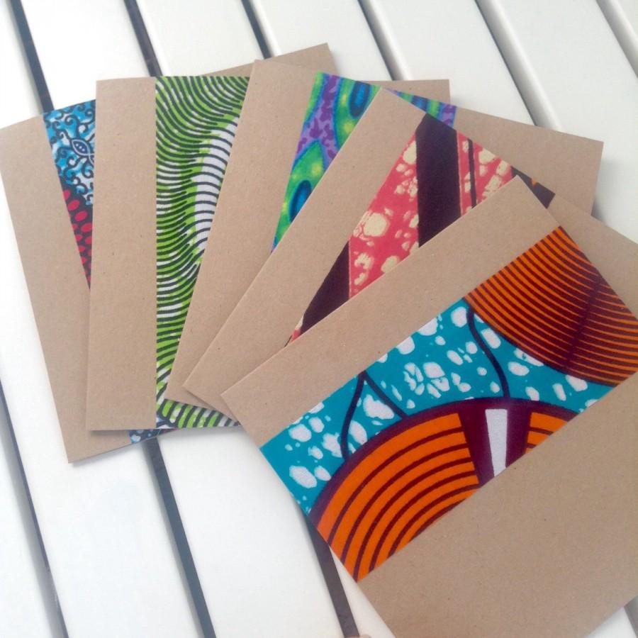 10 African Wedding Invitations African Wax Print Strip Wedding