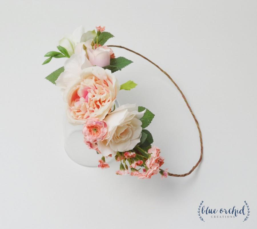 Свадьба - Peony Flower Crown, Boho Flower Crown, Wedding Crown, Wedding Flower Crown, Wedding Headpiece, Floral Crown, Floral Headpiece, Silk Flowers